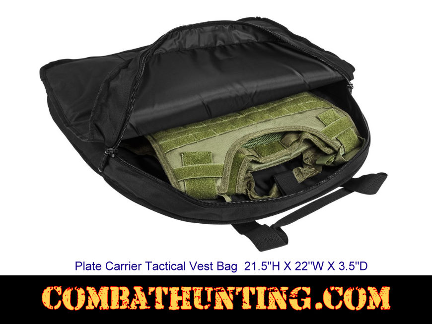 Plate Carrier Tactical Vest Bag Black style=