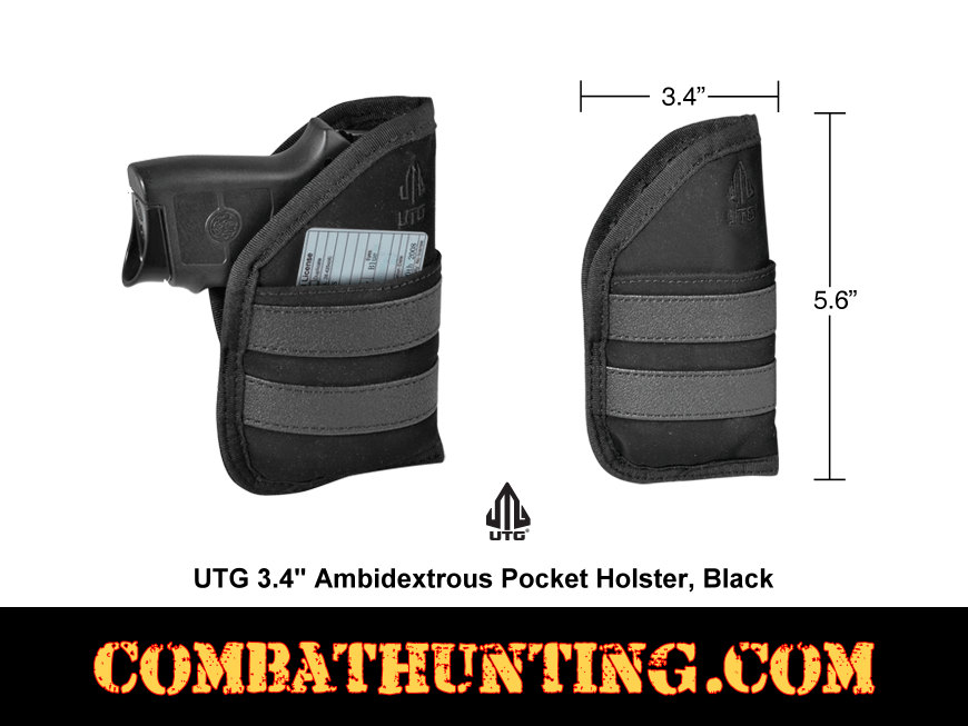 Pocket Holster Black Ambidextrous For .22 .25 style=