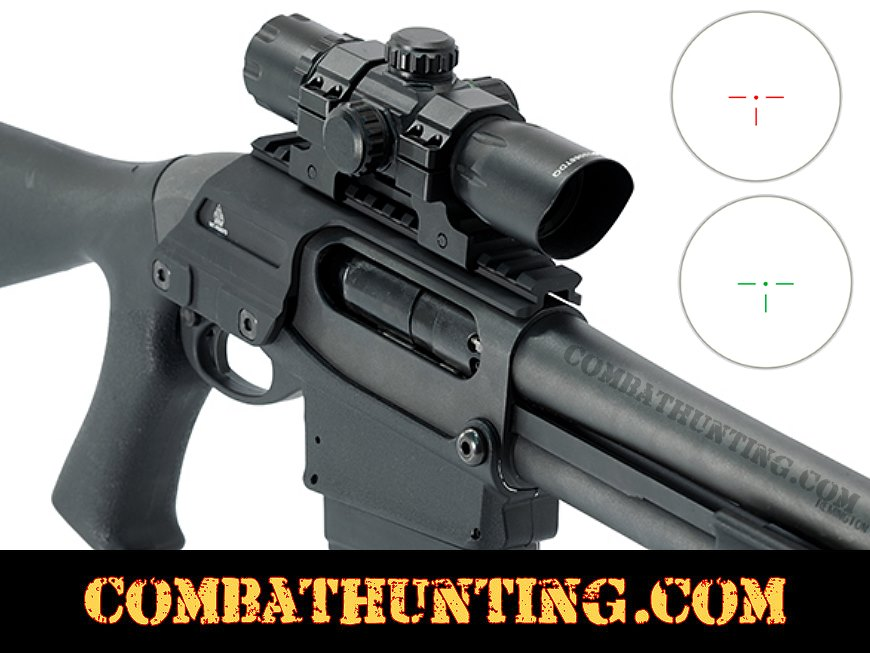 Red dot sight and rail mount for Remington Wingmaster 12 gauge