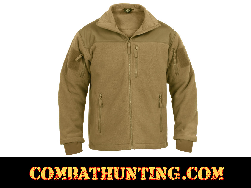 96680 Rothco Spec Ops Tactical Fleece Jacket Color Coyote Brown ...