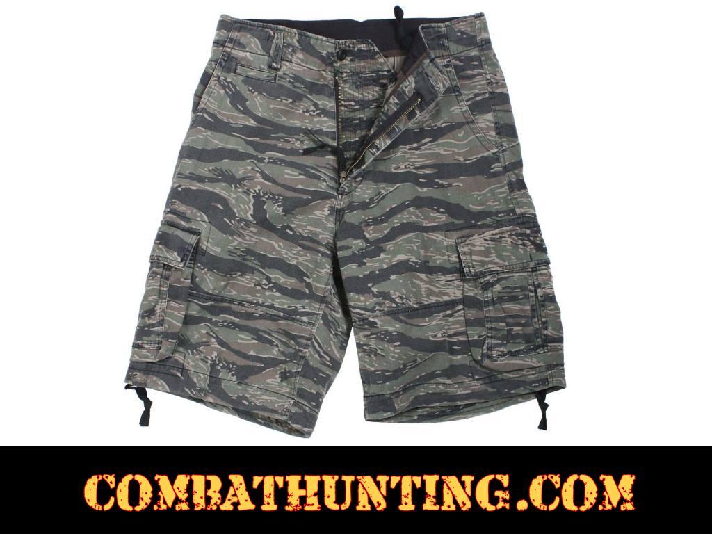 7c38f816b1 2214 Tiger Stripe Camo Vintage Infantry Utility Shorts - Military Bdu Shorts  Cargo Shorts