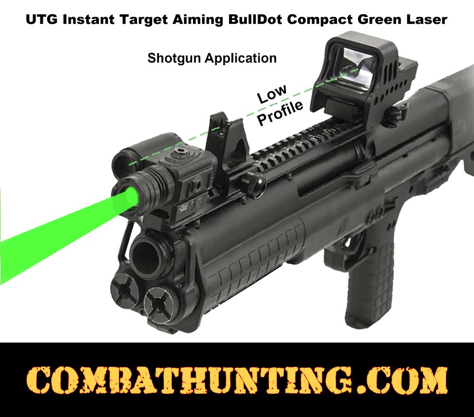 UTG® Instant Target Aiming BullDot® Compact Green Laser style=