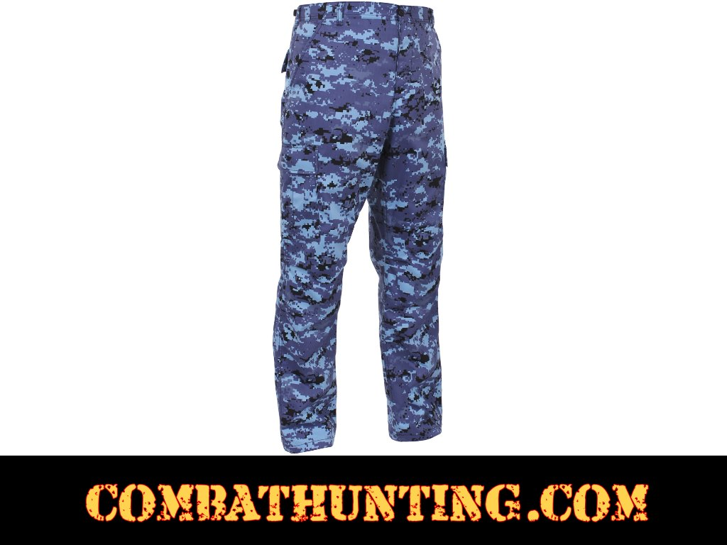 99620 Sky Blue Digital Camo BDU Pants - Military Fatigues ...