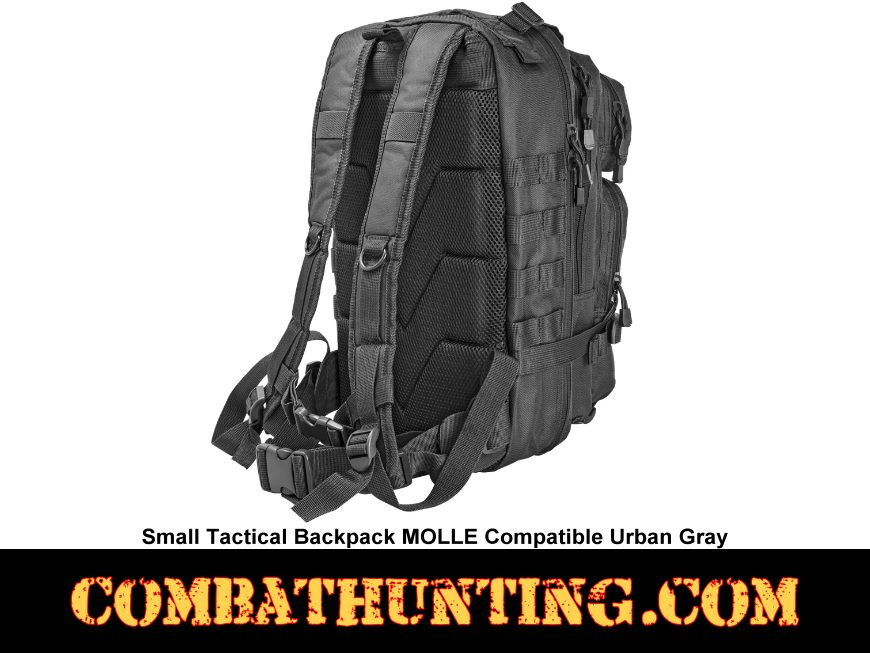 Small Tactical Backpack Urban Gray MOLLE Compatible style=