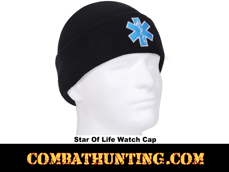 Star of Life Embroidered Watch Cap  style=