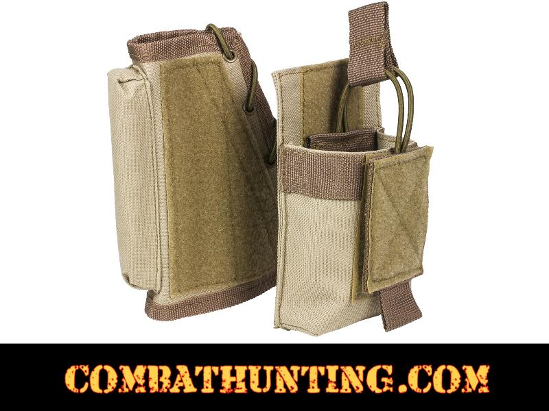 Tactical Cheek Pad Stock Riser With Magazine Pouch Tan/FDE style=