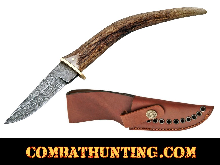 Damascus Steel Swoop Patch Hunting Knife style=