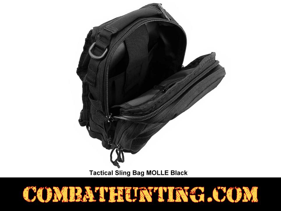 Tactical Sling Bag MOLLE Black style=