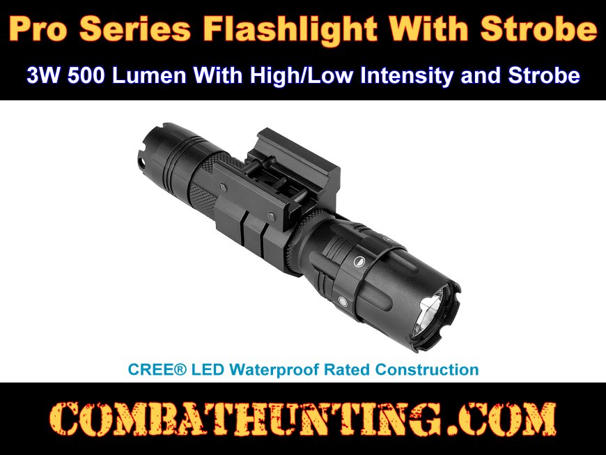 Pro Series Flashlight With Strobe 3W 500 Lumen style=