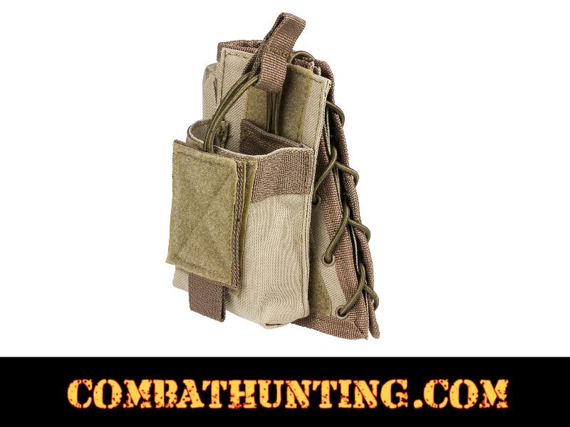 Tan Tactical Cheek Pad Stock Riser With Magazine Pouch style=