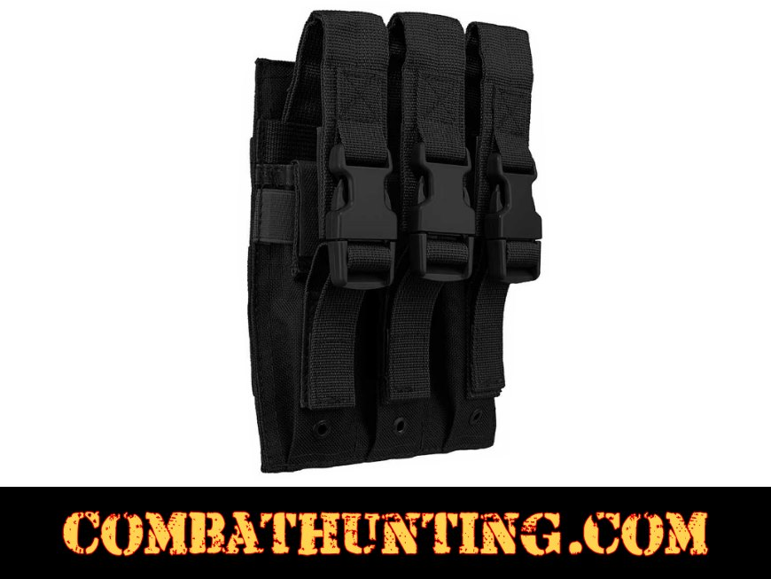 Triple Magazine Pouch MOLLE High Capacity SWAT Black style=