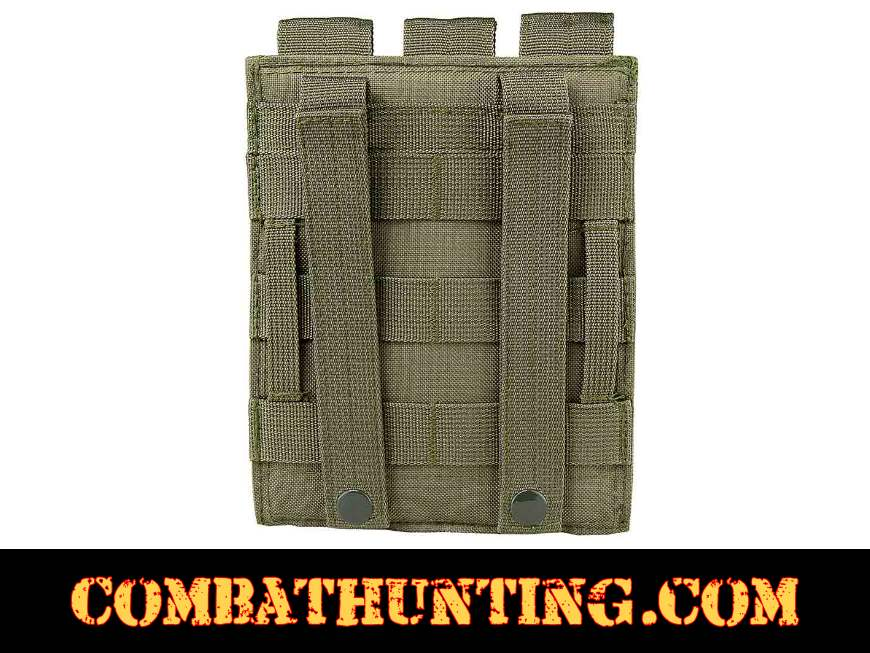 Green Triple Magazine Pouch MOLLE High Capacity style=