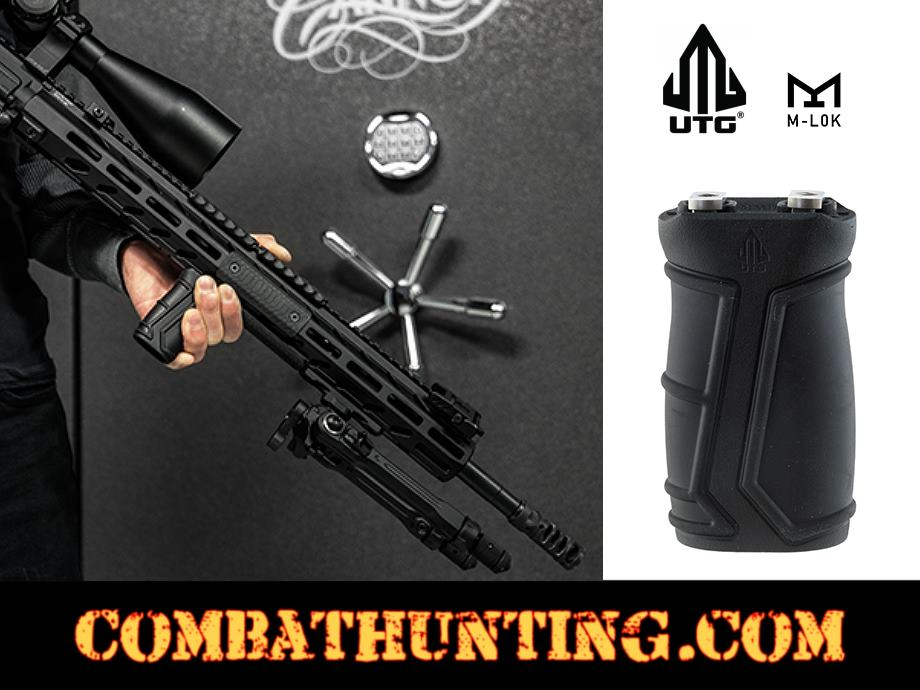 UTG Compact Foregrip M-LOK Polymer Matte Black Vertical Grip style=