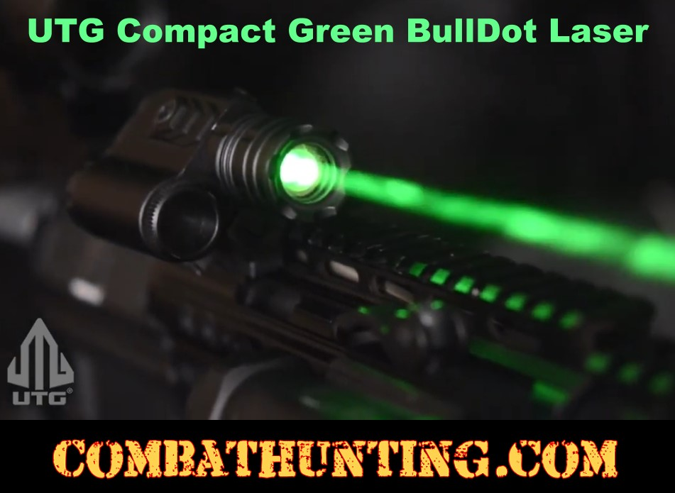 UTG Instant Target Aiming BullDot Compact Green Laser style=