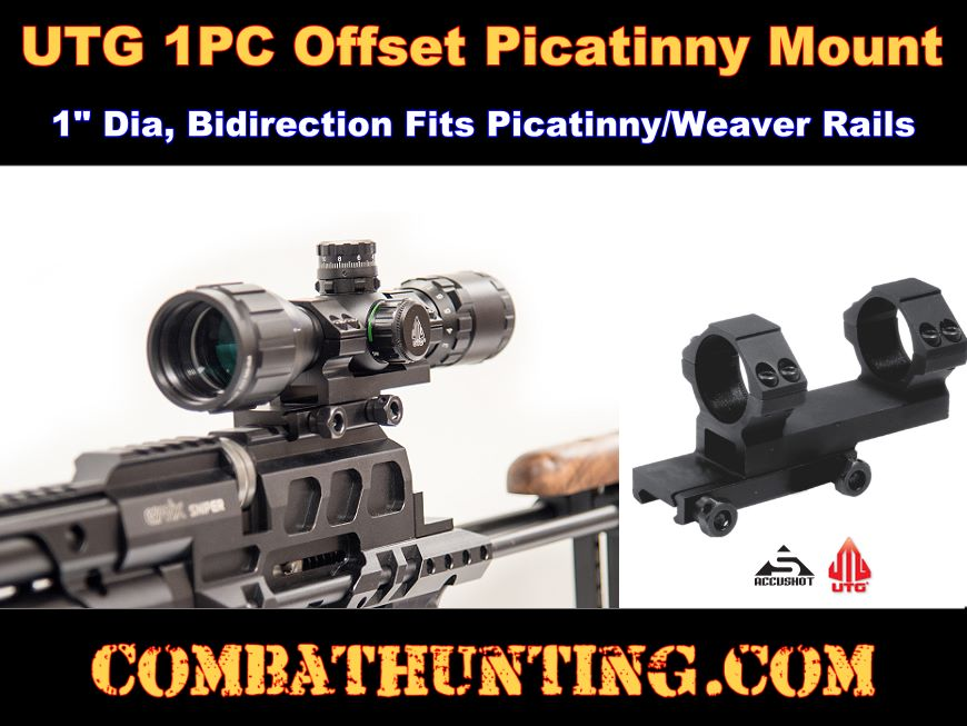 Leapers Accushot 1-PC Offset Picatinny Mount 1
