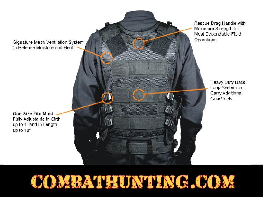 UTG Sportsman Tactical Scenario Vest Black style=
