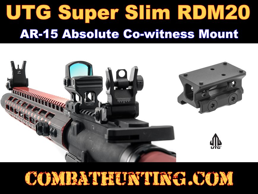 UTG Super Slim RDM20 Absolute Co-witness Mount style=