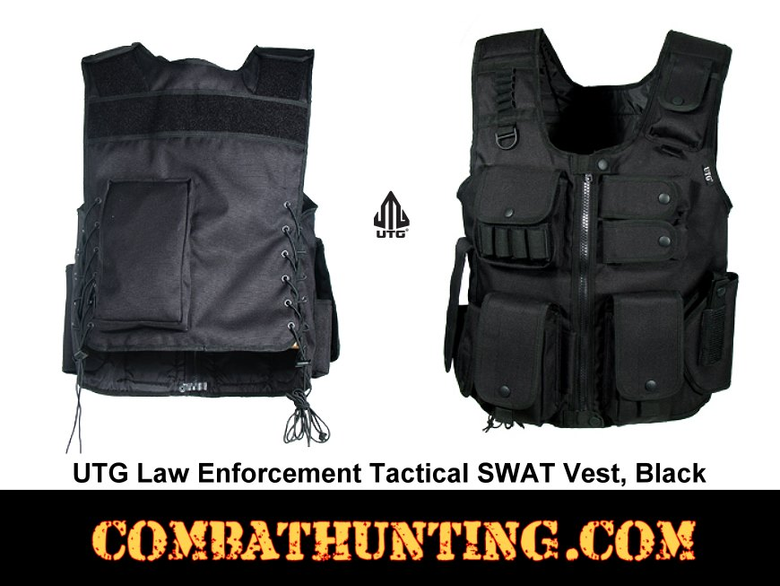 UTG Law Enforcement Tactical SWAT Vest Black style=