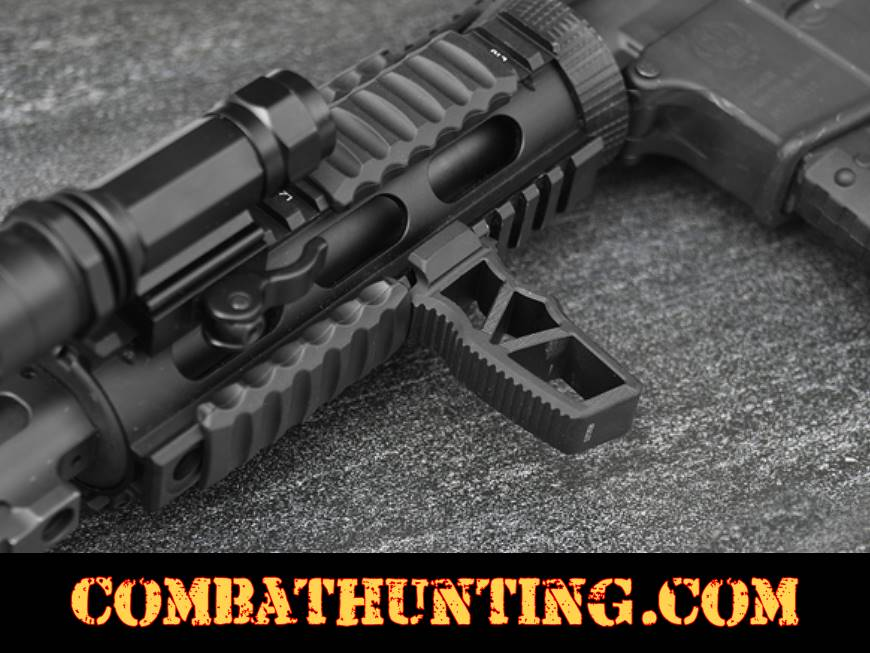 UTG® Ultra Slim Foregrip Picatinny Matte Black Skeletonized style=