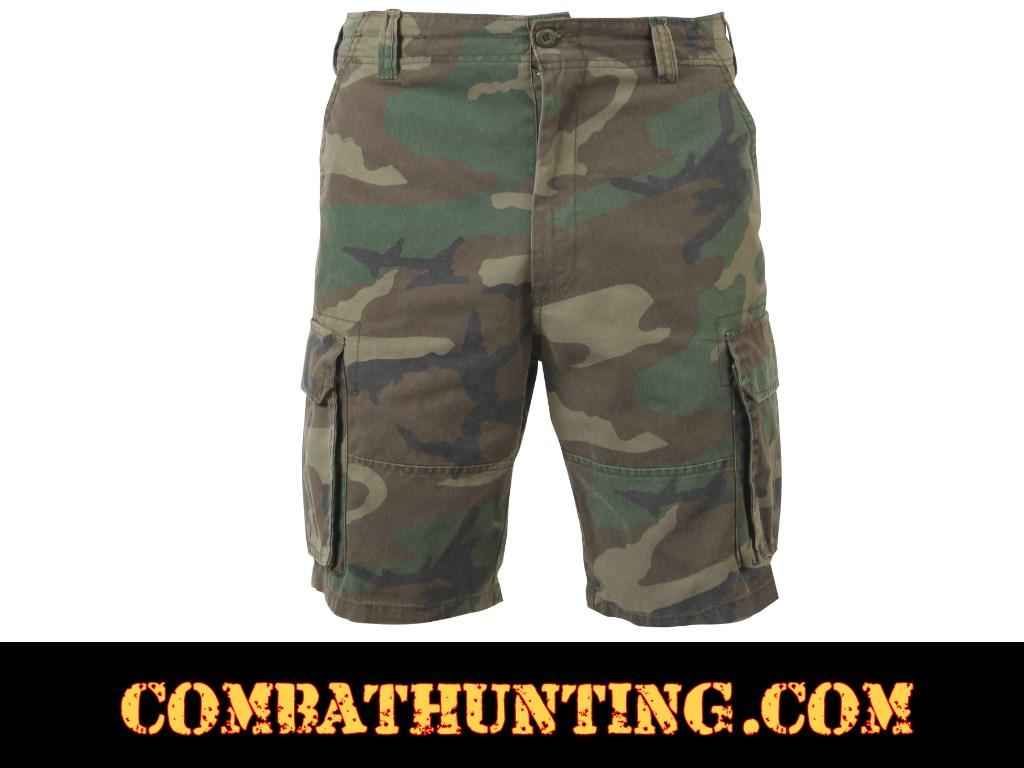 ae656efa7f 2140 Woodland Camo Vintage Cargo Shorts - Military Bdu Shorts Cargo Shorts