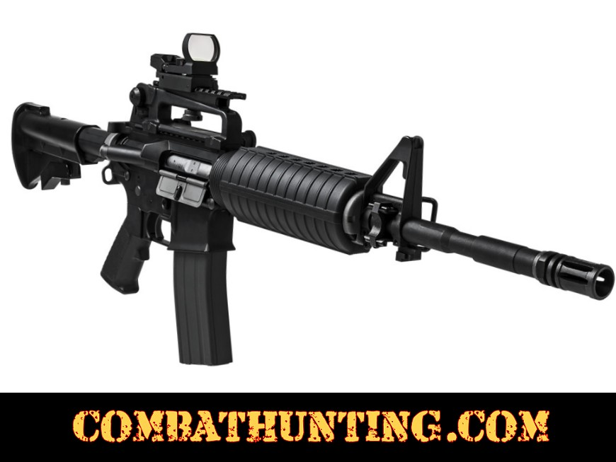 AR-15 Carry Handle Scope Mount & Reflex Optic Combo style=