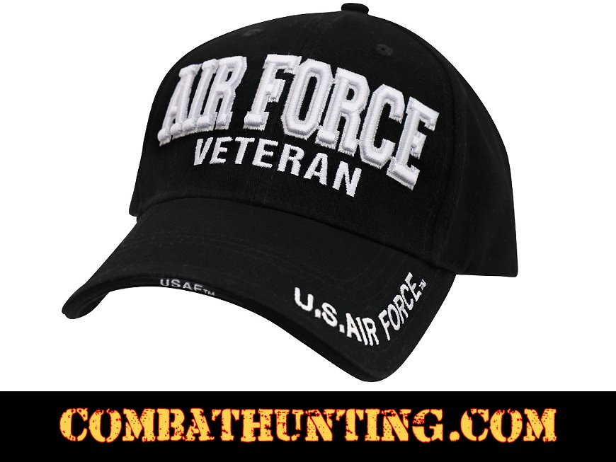 d57ac6fcb7 3959 Air Force Veteran Hat Deluxe Low Profile - Military Hats Baseball Caps