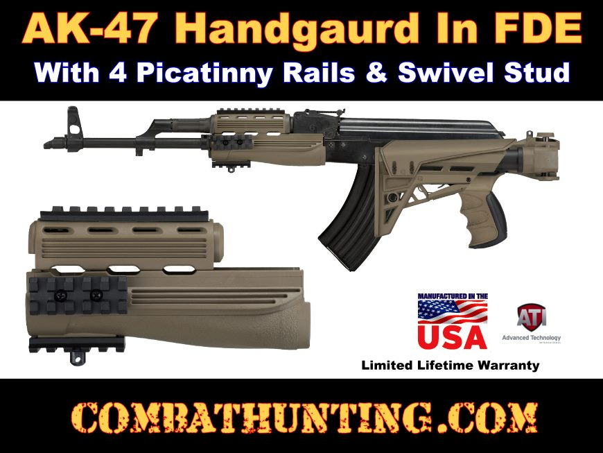 Hunting Gun Accessories Hunting Hunting Tactical Rifle Gun Accessories Ak-47 Strikeforce Polymer Handguards Upper And Lower Rail 2 Pieces Ak Handguard Airsoft