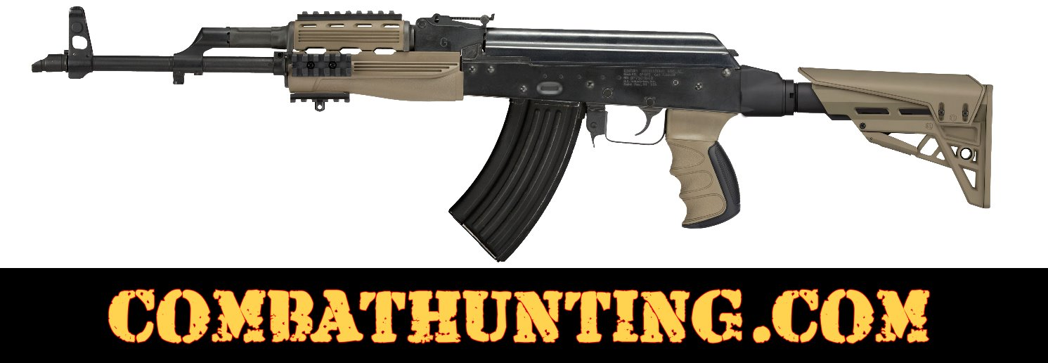 AK-47 Stock TactLite Elite Package With Scorpion Recoil System FDE