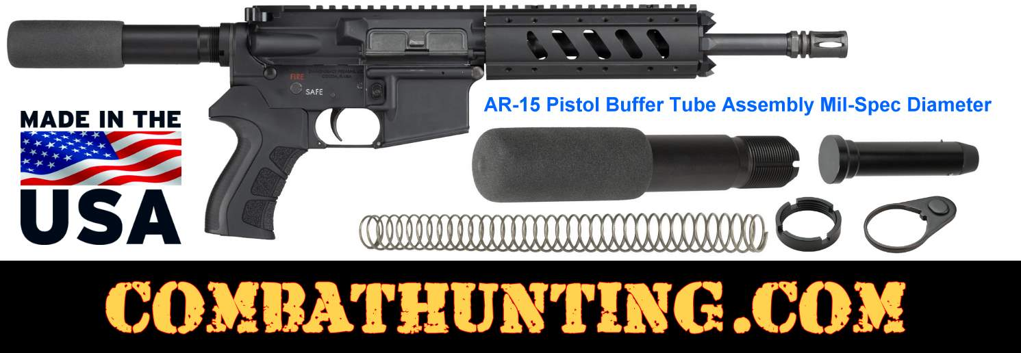 AR-15 Pistol Length Buffer Tube Assembly Kit Mil-spec style=