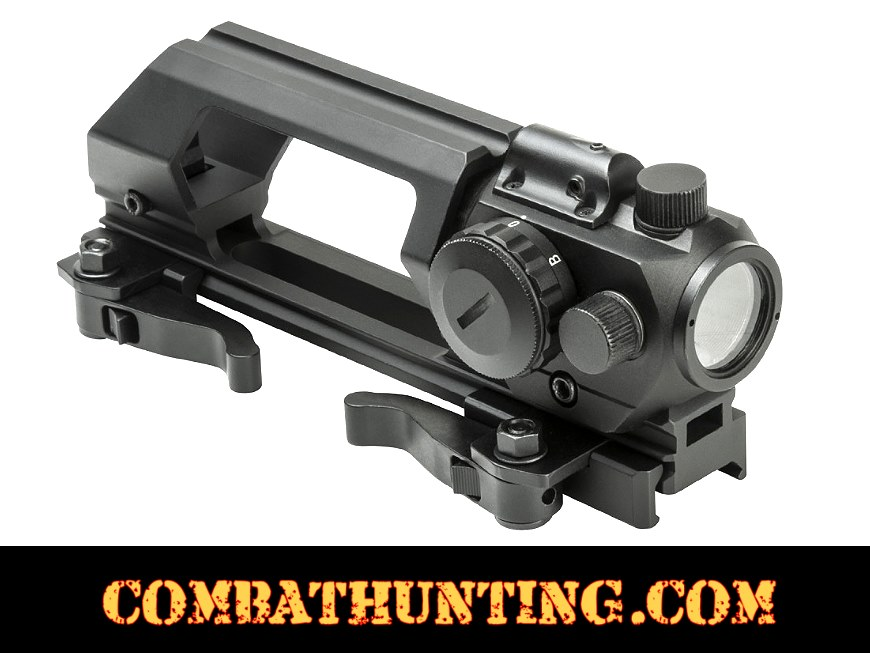 AR-15 Carry Handle Green Dot Sight Combo With Laser style=