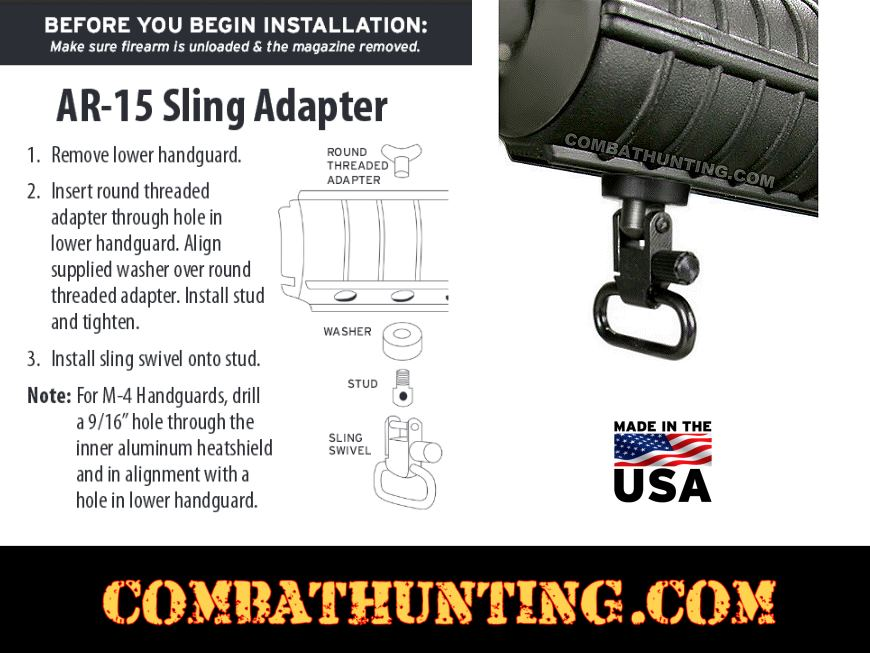 AR Sling Adapter for Plastic Forends style=