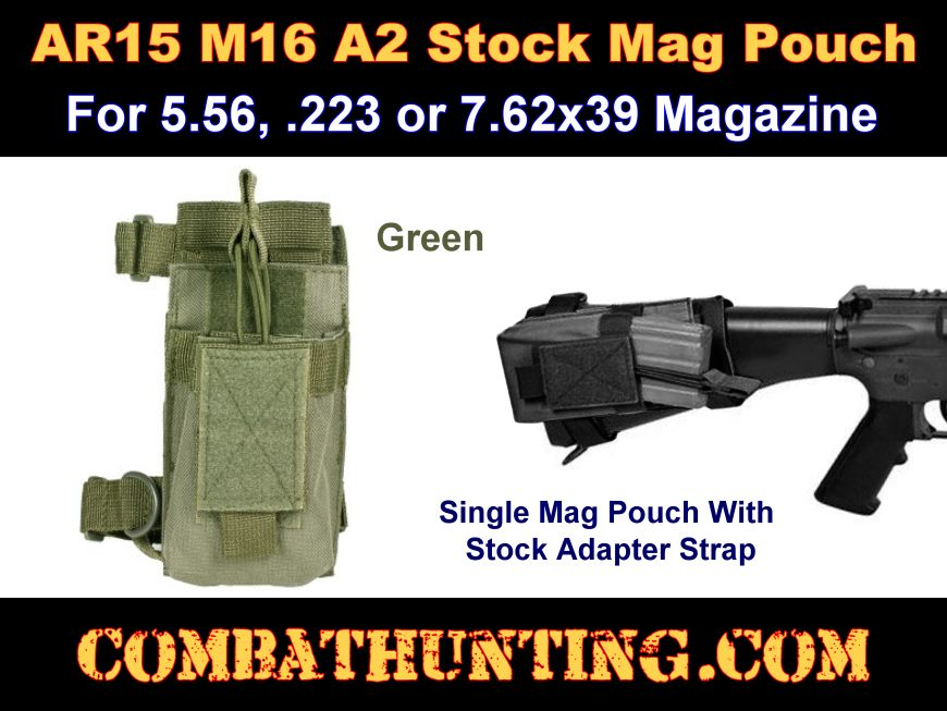 Mosin Nagant Buttstock Pouch OD Green
