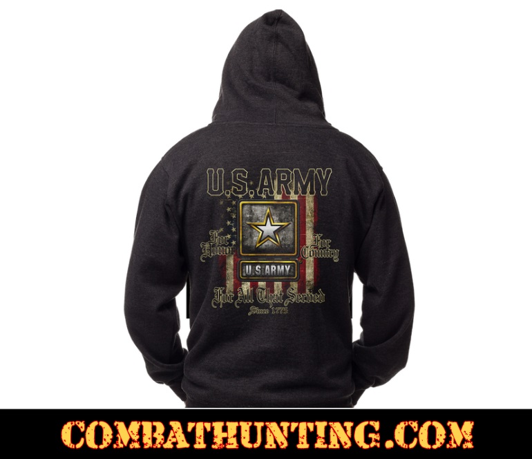 MH626 US ARMY Hoodie For Those That Served Sweatshirt - Military Sweatshirts  Hoodies 6648513868d
