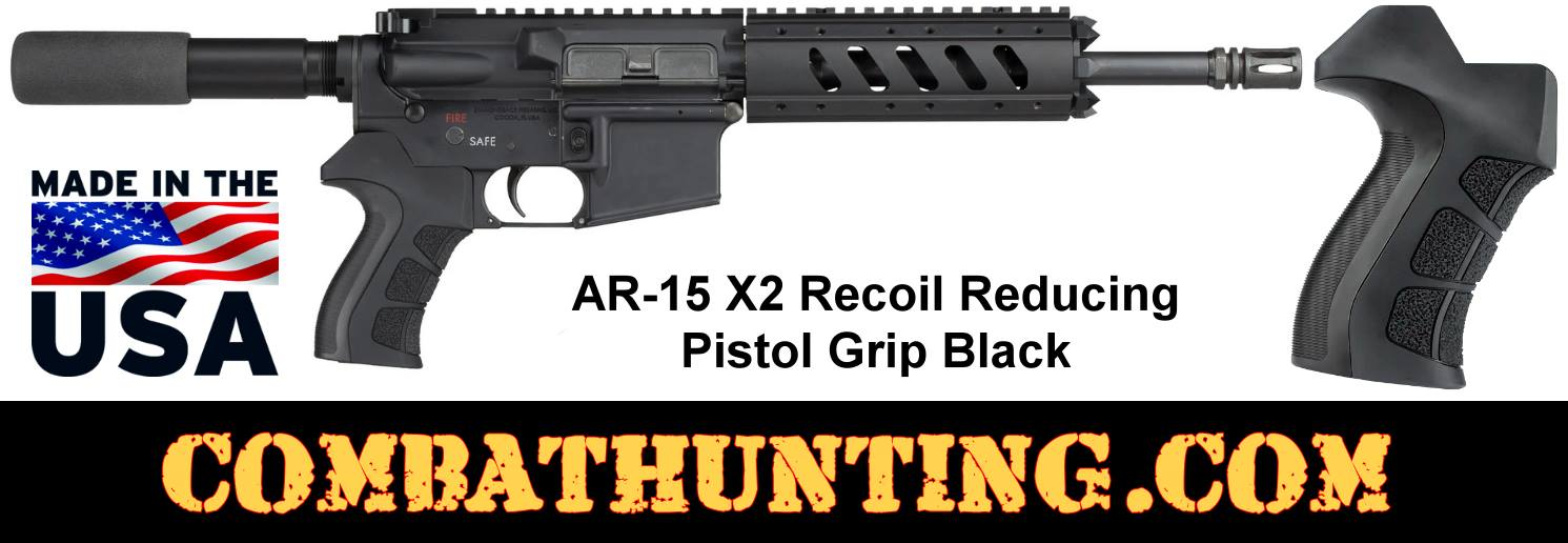 AR-15 X2 Recoil Reducing Pistol Grip Black style=