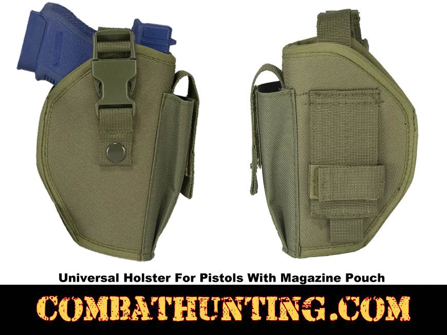 Universal Holster For Pistols With Magazine Pouch Green style=