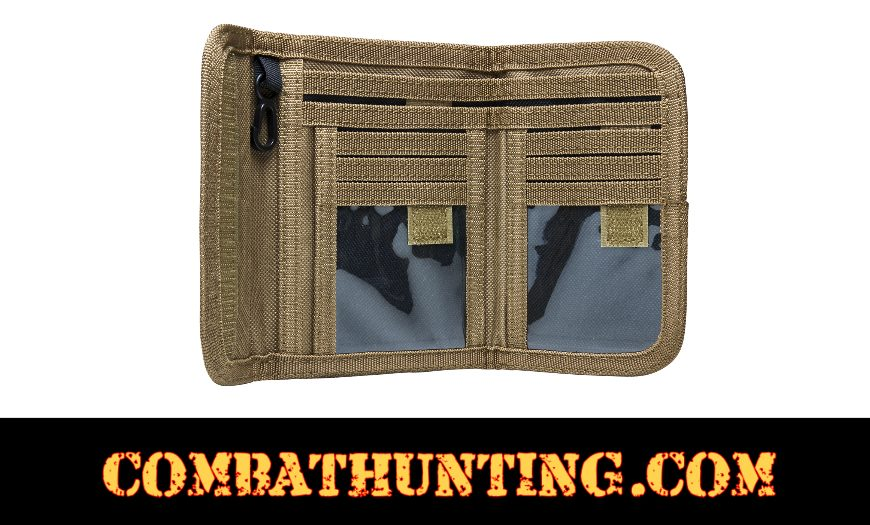 Military Style Bifold Wallet Tan/FDE style=