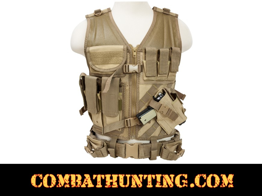 Ncstar Military Tactical Vest Coyote/Tan  style=