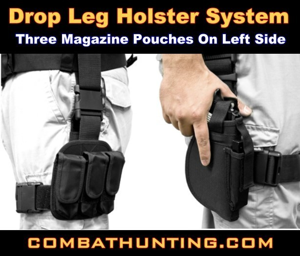 NcStar 3-Piece Drop Leg Gun Holster OD Green style=