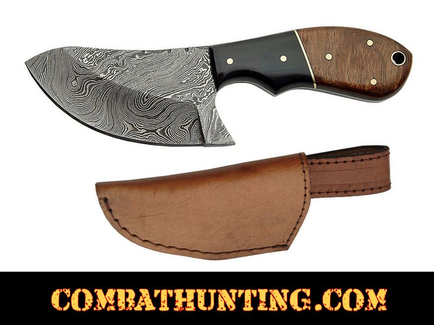 Dm 1062 Damascus Skinning Knife With Stag Horn Amp Walnut