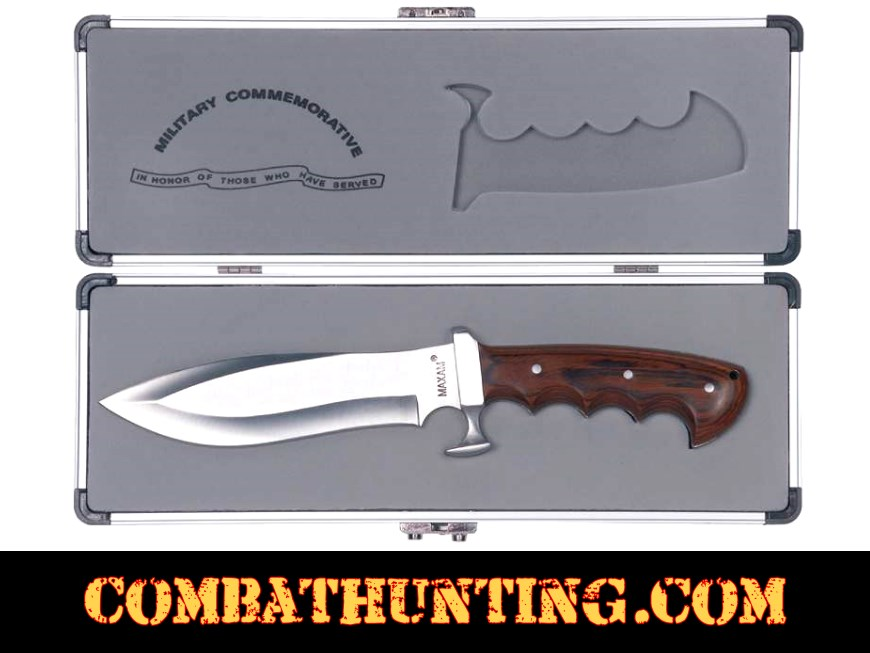 US Military Commemorative Knife With Case style=