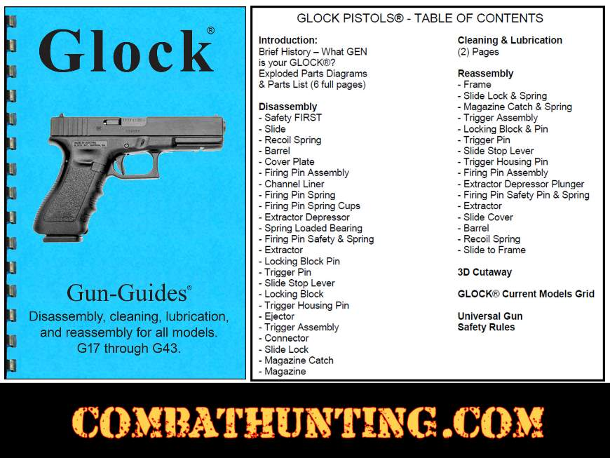 Glock® Pistols Disassembly & Reassembly Gun-Guides® Manual style=