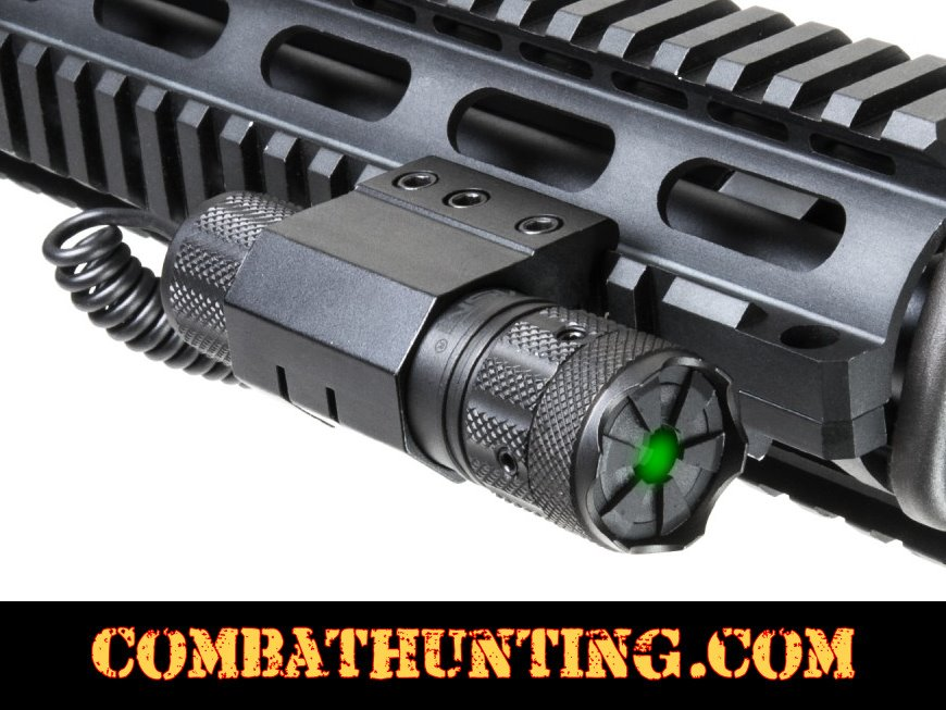 NcStar Pistol Rifle Shotgun Green Laser With Picatinny/Weaver Mount & Pressure Switch style=