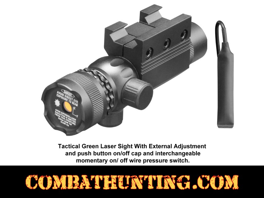 Tactical Green Laser With External Windage & Elevation style=