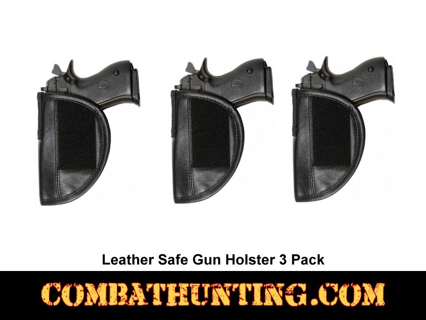Safe Gun Holsters With Velcro 3 Pack style=