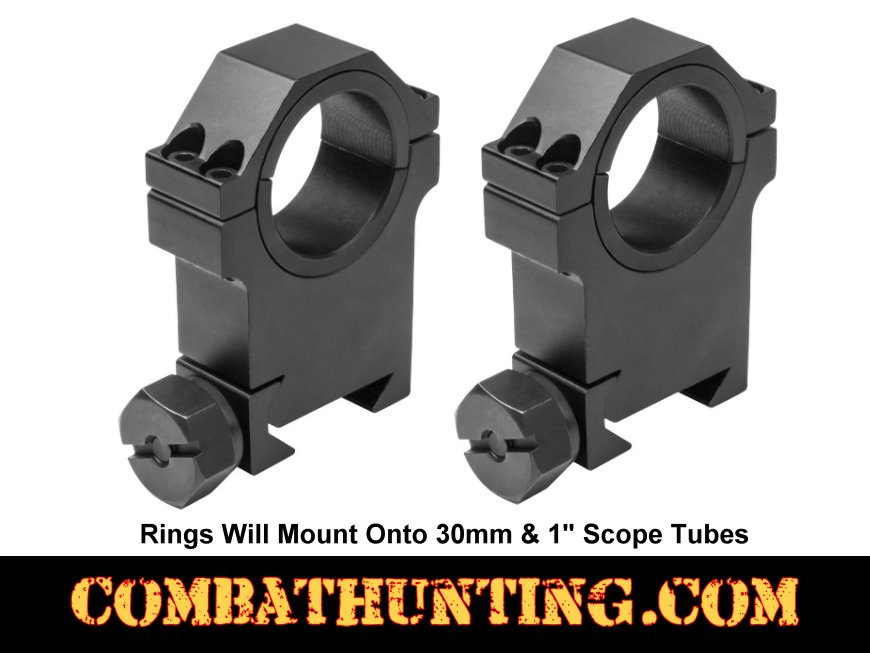 High Profile Scope Rings 30 mm 1