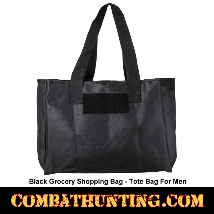 Black Grocery Ping Bag Tote For Men