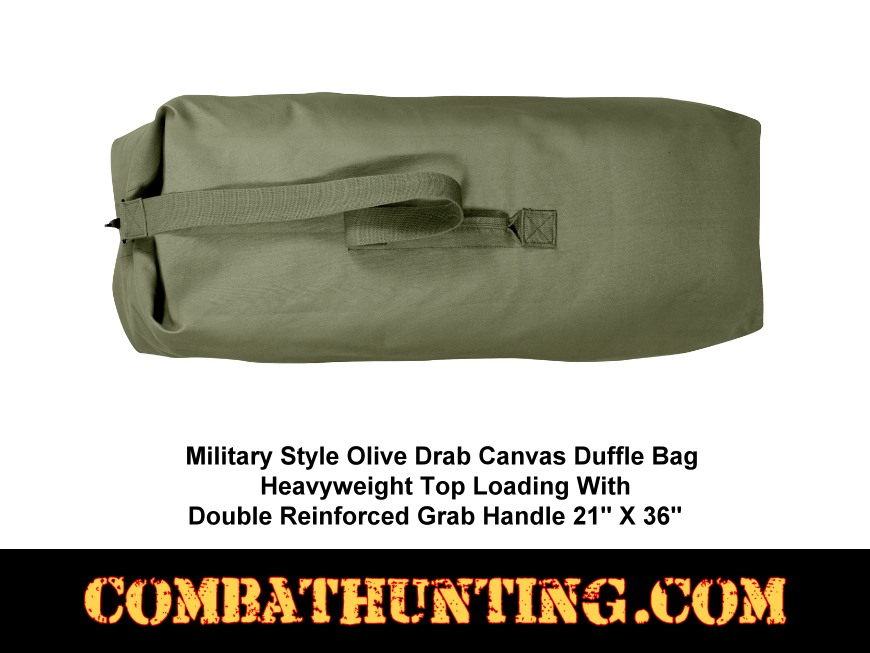 3339 Olive Drab Top Load Canvas Duffle Bag 21
