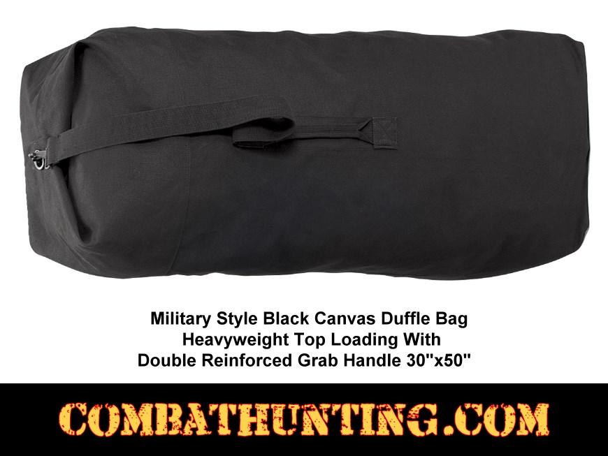 8137B · Black Duffle Bag Israeli Military Type 3d3c54c57b316