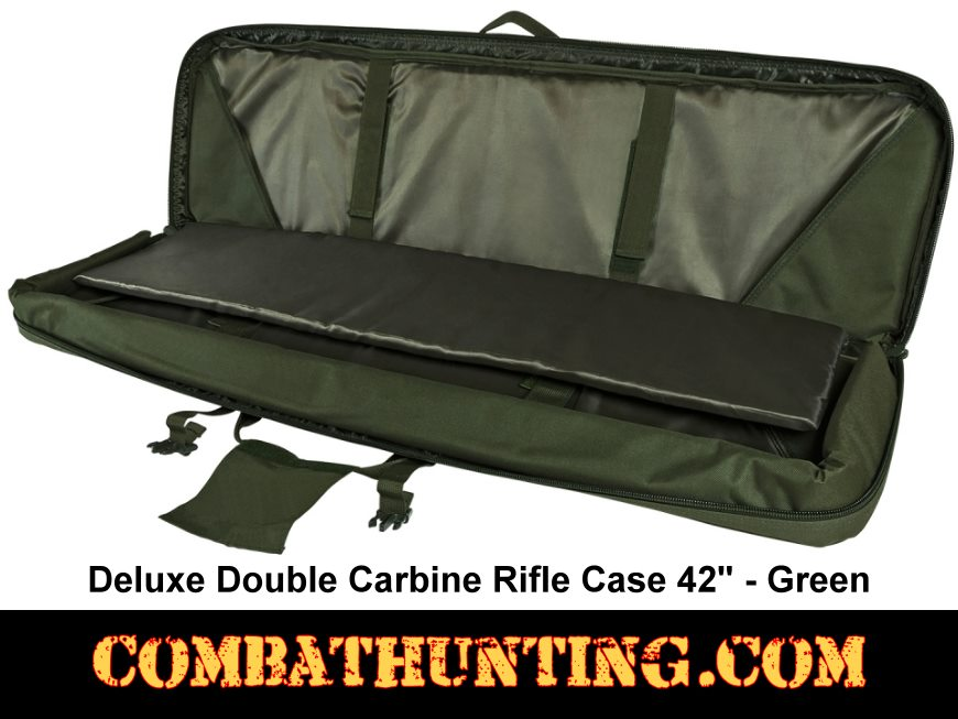 Double Carbine Rifle Case 42 Inches Military Green style=