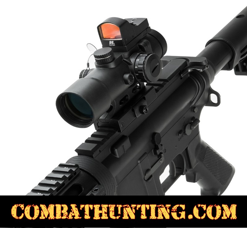 Compact 3.5X32 Prism Scope & Micro Red Dot CQB Sight Combo style=